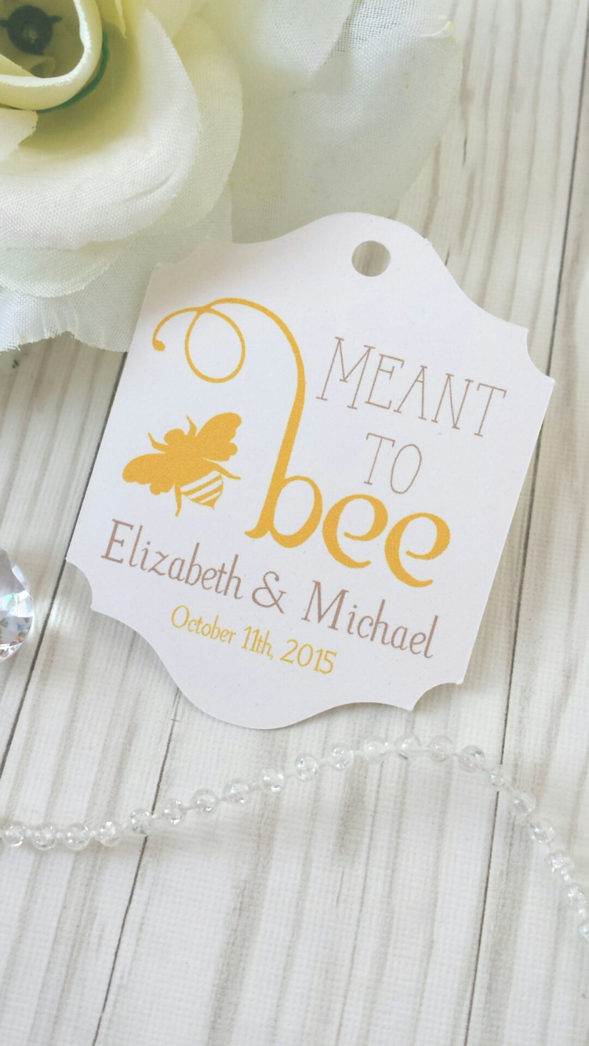 Honey Wedding Tag Meant to Bee Wedding Favor Tags