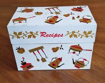 Vintage Ohio Art Co Metal Recipe Box