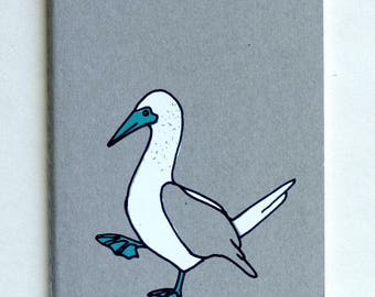 Blue-Footed Booby notebook | sketchbook | journal