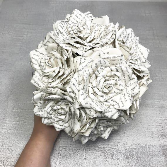 Book Page Bouquet Bridal Bouquet Paper flower bouquet