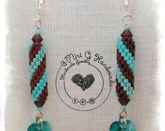Earrings Handmade Swarovski Miyuki