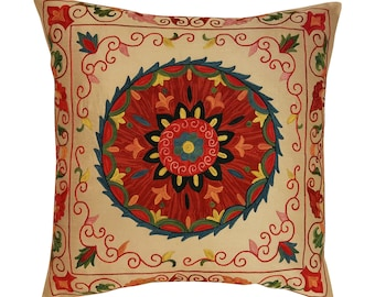 Hand Embroidered Suzani Pillow Cover msp799, Suzani Pillow, Suzani Throw, Boho Pillow, Suzani, Decorative pillows, Accent pillows