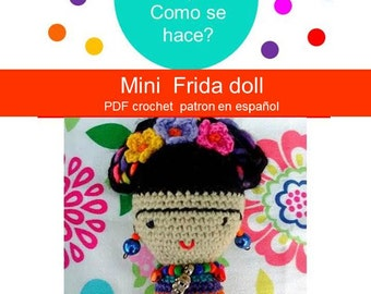 Frida Kahlo Amigurumi - Mini Frida Puppe