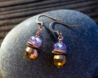 Lazy Lavender Earrings