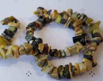 yellow Turquoise chips 12 inch