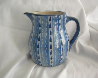 DORCHESTER  Large Pottery Pitcher | Hand Painted | Artist Signed A Signorini | Vintage Mid Century