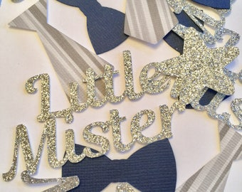 Little Mister Party - Bow Tie and Tie confetti - Baby Shower