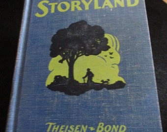 "1945 Book  ""Jouneys in Storyland"" Living Literature for supplemental reading by Theisen - Bond - Estate find!"