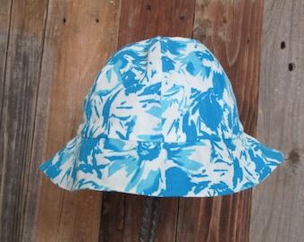 Child Blue Watercolor Hat