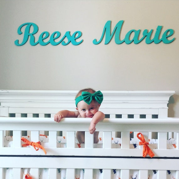 Placa de nombre nombre de madera para niños o bebé