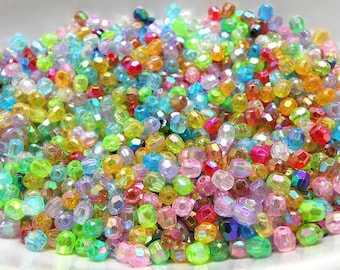 300 Mixed Acrylic Beads 4MM spacers