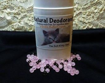 Natural Deodorant ( baking soda free, for sensitive skin ) ( aluminum free ) 2.5 oz  all natural