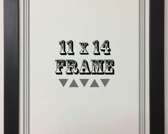 11x14 Frame, Black Wood Frame, Wood Frame, Picture Frame, Photo Frame, Frame with Glass