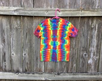 Kids medium DNA rainbow tie dyed tshirt