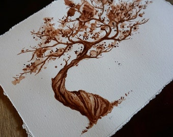 Bonsai ink painting