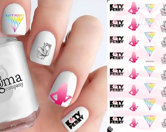 Katy Perry Nail Decals (Set of 52)