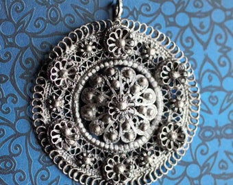 Vintage Sterling Silver Ottoman Pendant