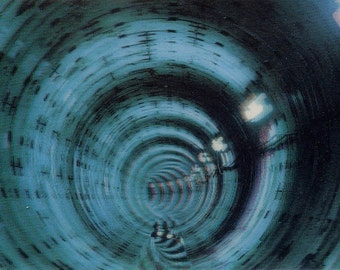 Unusual Lenticular Photo Postcard Blue Tunnel Mexico