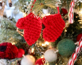 Mini Mittens Christmas Tree Ornament ~ Christmas in July