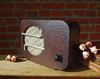 Soviet radio Russian radio Wooden radio Antique radio Vintage radio 1940s Radio speaker Radio USSR Home decor Soviet vintage, USSR