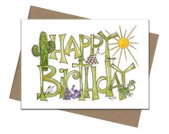 Southwest Desert Theme | Birthday Card