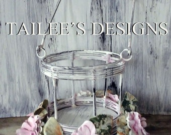 Candle Holder//cottage decor//shabby chic decor//french country decor//handmade
