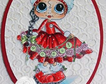 INSTANT DOWNLOAD Digital Digi Stamps Big Eye Big Head Dolls NEW Ho Ho img359 Bestie  My Besties By Sherri Baldy