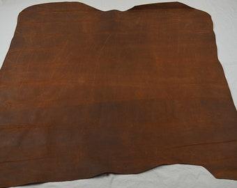 Vintage oiled nubuck cowhide leather voucher