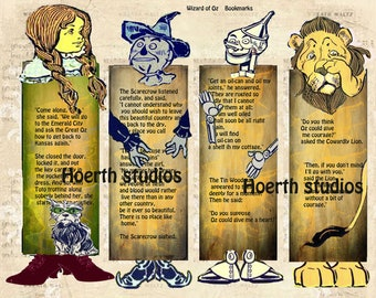 Printable Wizard of OZ Bookmarks  great last minute gift paper arts and Craft project