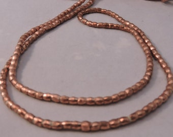 Ethiopian Very Small Round Copper Spacer Beads/ African metal beads