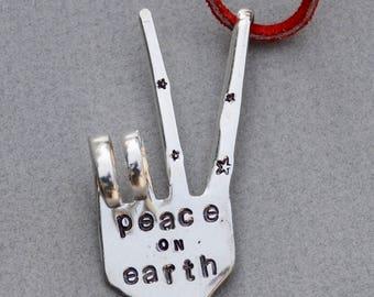 Peace Sign Garden Marker, Herb Marker, Plant Stake, Plant Maker, Gift for Gardener, Gardening Flower Pot, Herb House Plant * Silver Plate