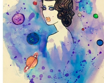 Space Girl painting By: Me