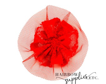 Red Vintage Lace 3 inches - Red Lace Flower, Red Flower Headbands, Red Lace For Babies, Red Vintage Lace Trim, Red Vintage Lace, Red Lace