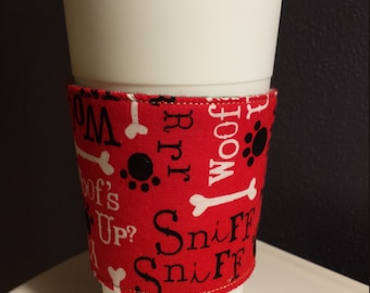 Coffee Cup Sleeve, Reversible and Insulated