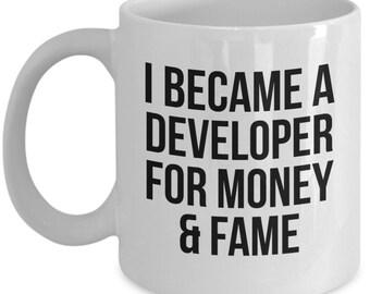 Funny Developer, Developer Mug, Gift For Developer, Developer Gift, Personalized Developer, Graduation, Programmer Gift, Programmer Mug,