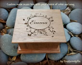 music box, wooden music box, custom music box, personalized music box, music box shop, personalized gift, sweet 16, birthday gift, baby gift