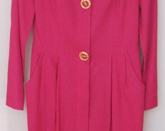Joan Leslie Dress, Pink, Size: 6, Made in USA, Vintage