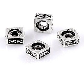 50 beads square CADMIUM-free zinc alloy washers