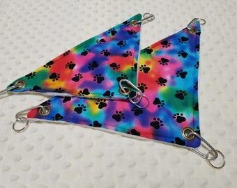 Rainbow Paw Print Hammock