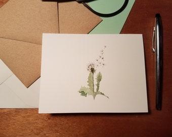 Dandelion Fluff Folded Note