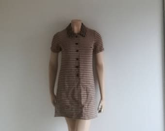 Vintage 60s dress Mini shift mod dress Mad Men dress