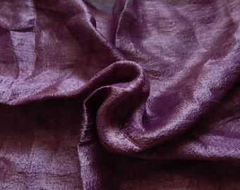 Pure Silk Fabric, Pure Dupioni Silk Fabric, Silk Fabric, Indian Silk Fabric, Lavender Silk Fabric