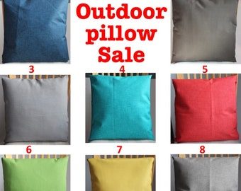 SALE OUTDOOR  SOLID Pillow covers Pillow cases  Pillows Decorative Pillows 18X18, 16X16, 14x20, 14x14, 12x16, 12x12, 10x10