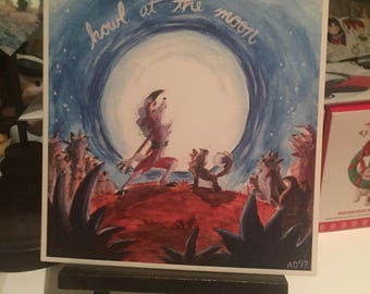 Howl at the Moon Lycanroc Print