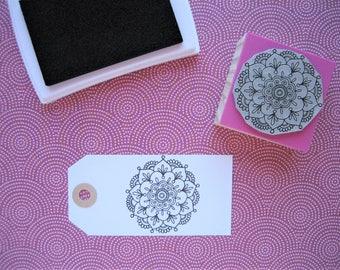LOTUS FLOWER MANDALA Rubber stamp. Lotus Flower Mandala Stamp. Lotus Flower Stamp. Mandala Stamp. Mandala Rubber Stamp. Yoga rubber stamp