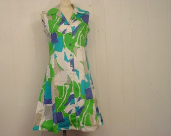 Vintage Dress, 1960s Hawaiian dress, Hawaiian dress, Norma, vintage clothing, small
