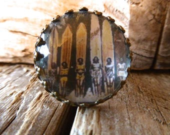 """""""The surfers from the 50"""" Adjustable ring"""