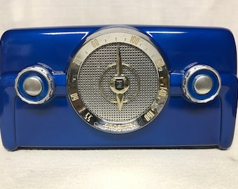 1950 Crosley 10-135 Vintage Dashboard Tube Radio With Bluetooth Input
