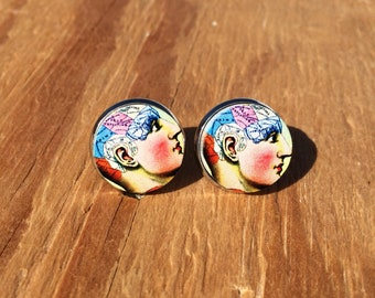 Insane in the Membrane:Stud earrings.
