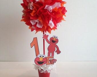 Sesame Street, Elmo birthday party decoration, centerpiece, centerpieces
